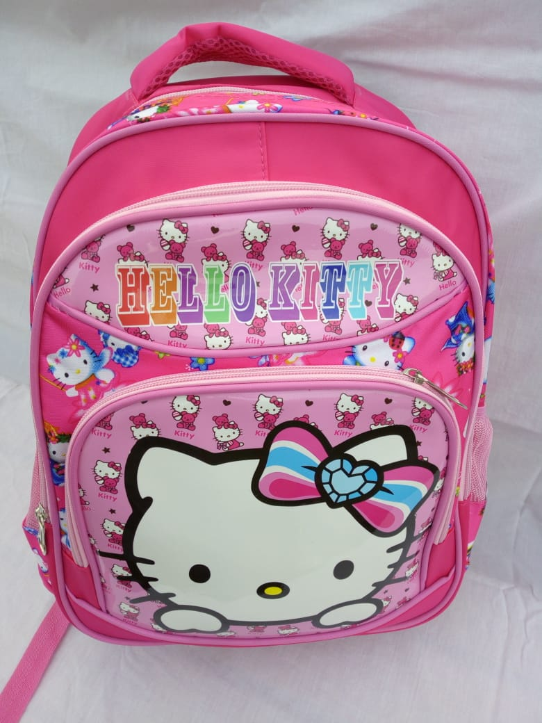 Pink and White Hello Kitty Scool Bag