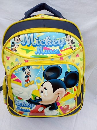 Navy blue and Yellow Mickey mouse  bag