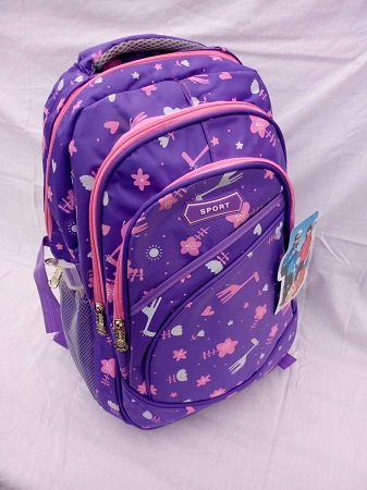 Pink and light blue Girls bag