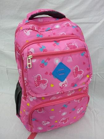 Pink Bag with light blue details