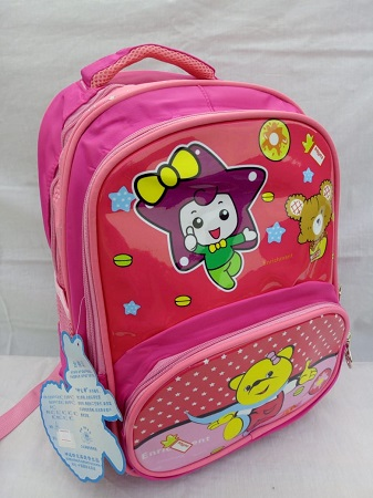 Unisex Pink Hello Kitty School Bag