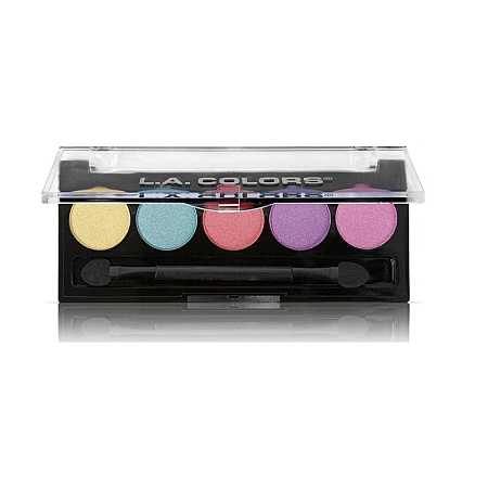 L.A. Colors 5 Color Metallic Eyeshadow- LUSH