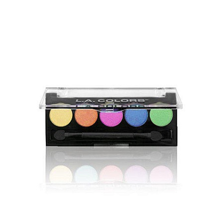 L.A. Colors 5 Color Metallic Eyeshadow-Tease