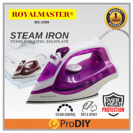 Portable Electric Steam Iron For Clothes Multifunctional Adjustable Purple
