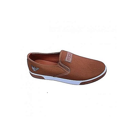 Brown Slip-on Men's Sneakers