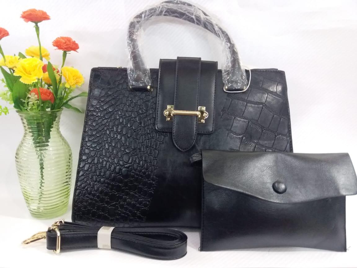 Black 2 piece corporate hand bag set