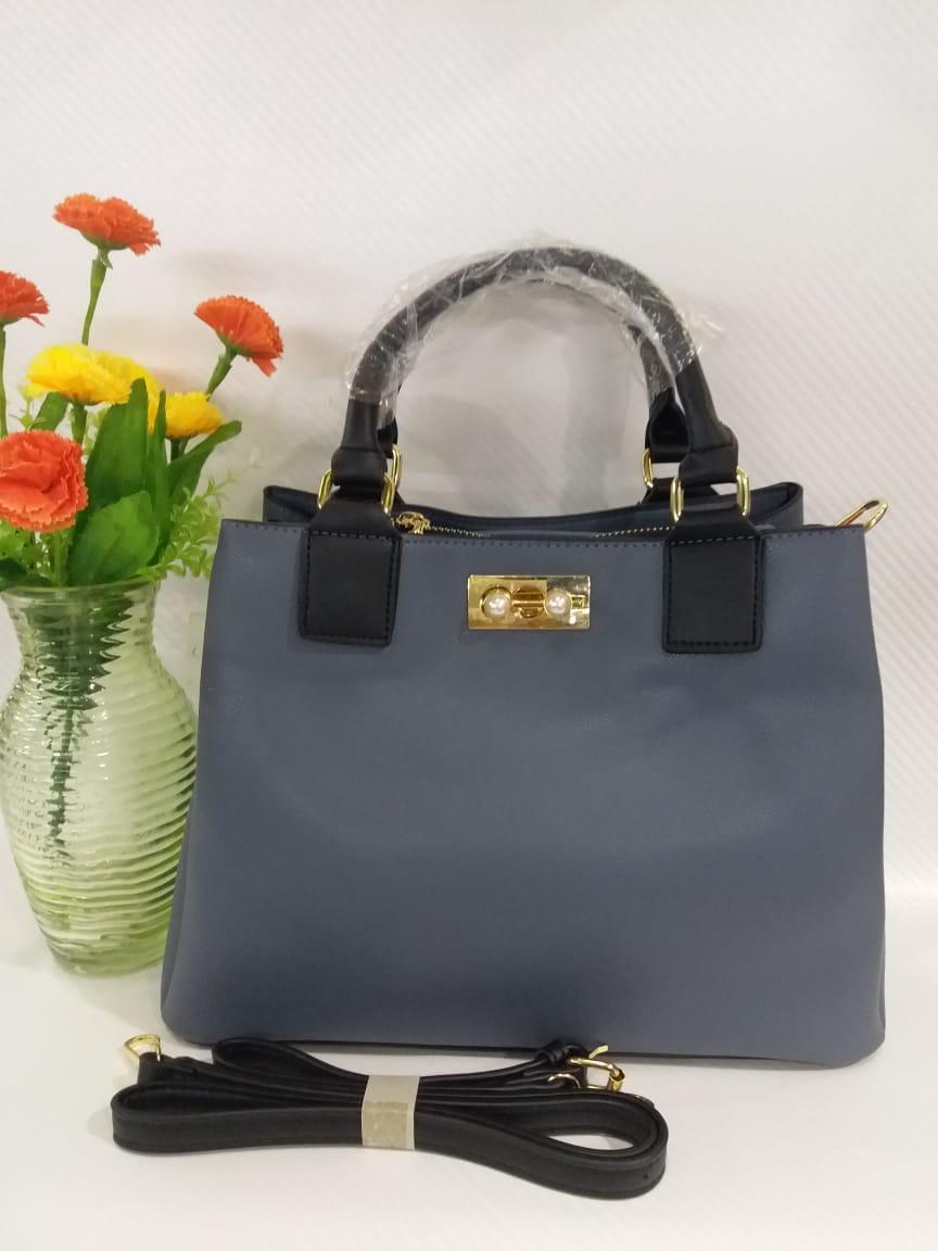 Grey and Black   hand bag