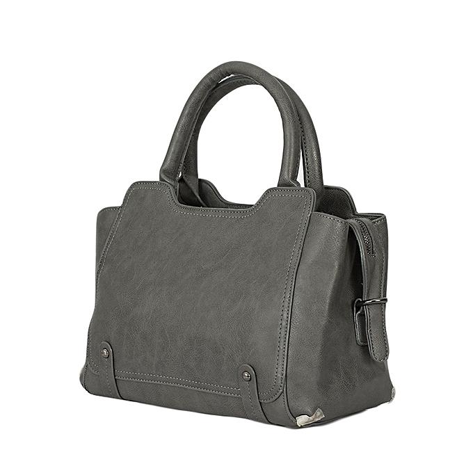 Generic Grey PU Leather Ladies Handbag