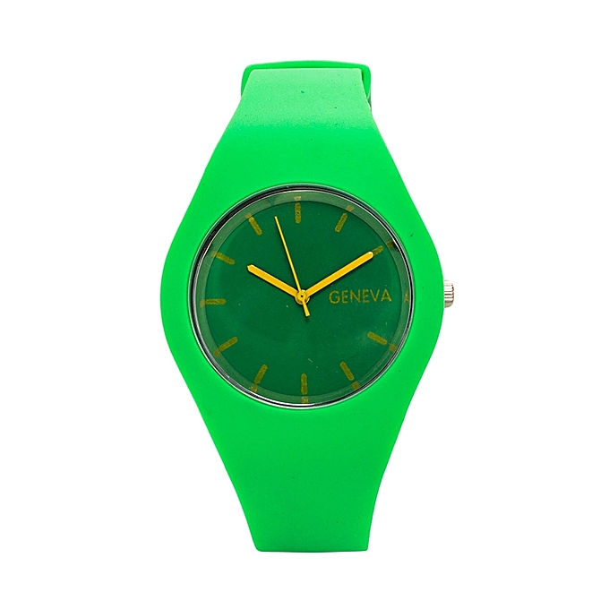 Generic Parrot Green Rubber Strap Unisex Watch.