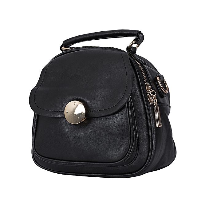 TIFFY COLLECTION Black PU Leather Ladies Slingbag.