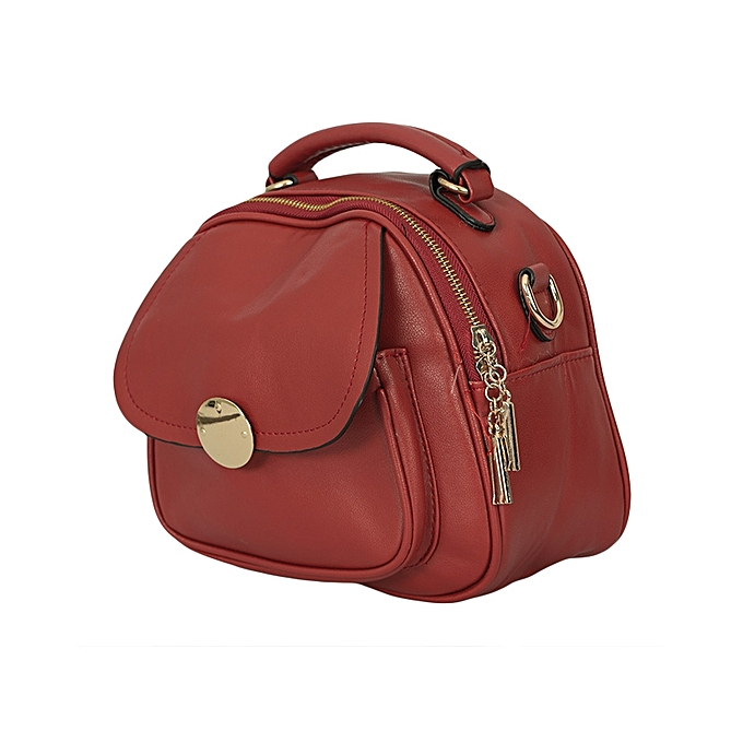 TIFFY COLLECTION Maroon/Red PU Leather Ladies Slingbag.