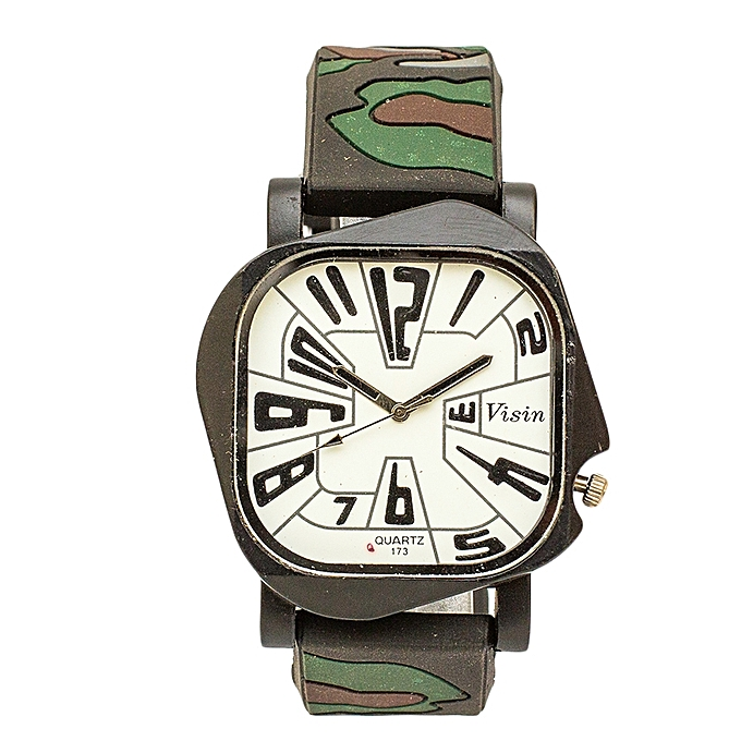 Combat Rubber Strap Watch.