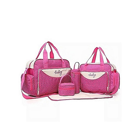 Quality Pink 4 In 1 Diaper Bag With A Changing Mat