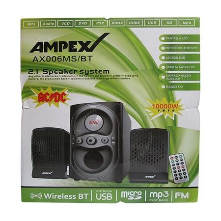 Ampex AX006-SPEAKER SYSTEM BLUETOOTH,FM USB