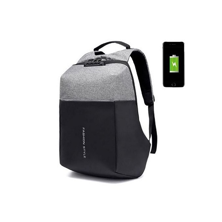 Generic Antitheft Bags With Password Lock And Charging Port - Grey