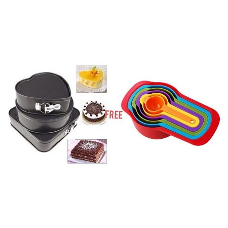 Generic Baking Tins -A Set Of 3 Different Shapes
