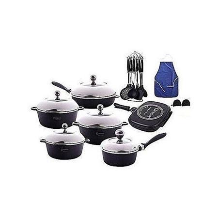 Dessini Non-Stick Cooking Pots - 23 Pieces - Black