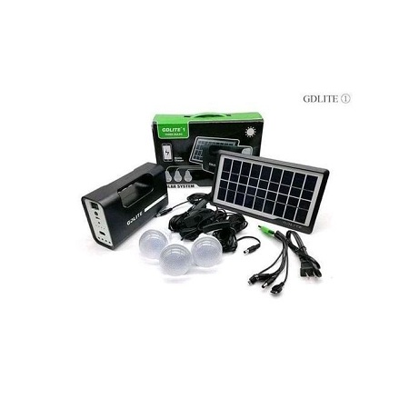 Gdl GD-8017 Plus Solar Lighting System Kit (Black)