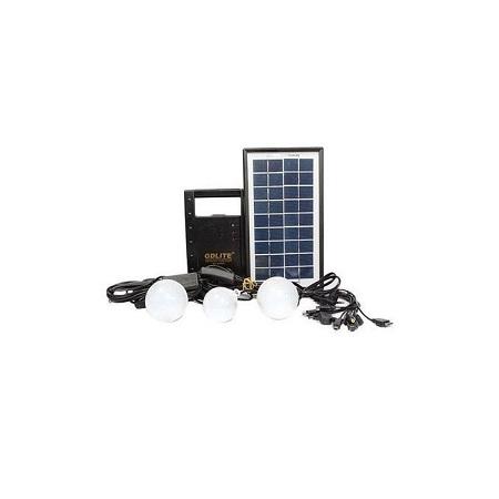 Gdl Solar Lighting System With FM Radio - Black
