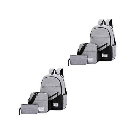 Generic Student / Laptop Backpack - Grey