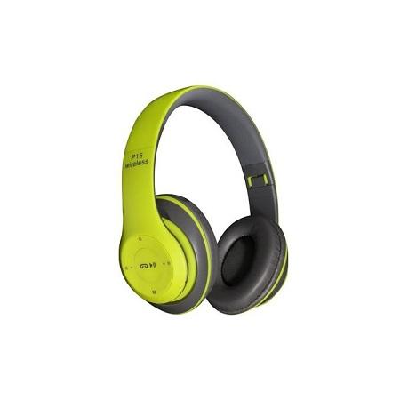Generic Wireless Bluetooth 4.2 Stereo Headphone Headset Earphone For Mobile Phones -Green