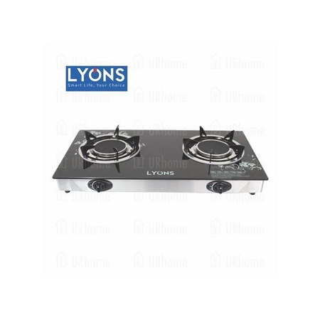 Lyons GS005- 2 Burner - Glass top and ifrared double burner - Black