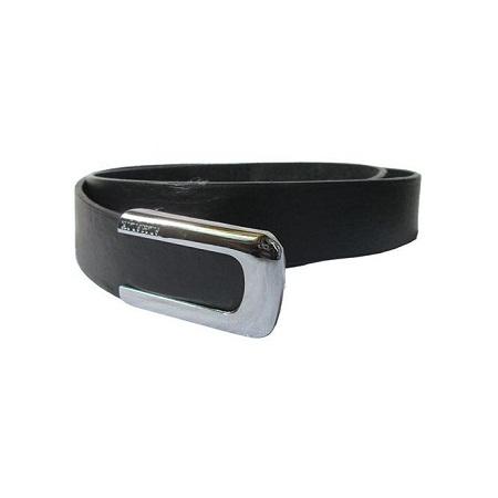 Fashion Men's Leather Belt Casual Business- Black