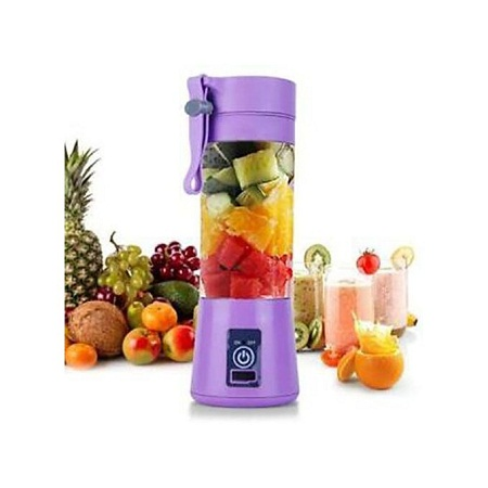 Portable Blender Juicer Cup / Electric Fruit Mixer / USB Rechargeable Juice Blender - Purple