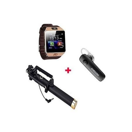 Smart Watch Phone + Free BT Headset & Selfie Stick
