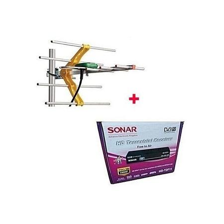 Sonar HD-T2F11 Sonar FTA Digital Set Box Decoder + Free antenna