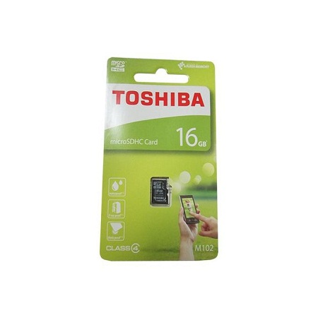 Toshiba Micro SD Memory Card 16GB Capacity - Black