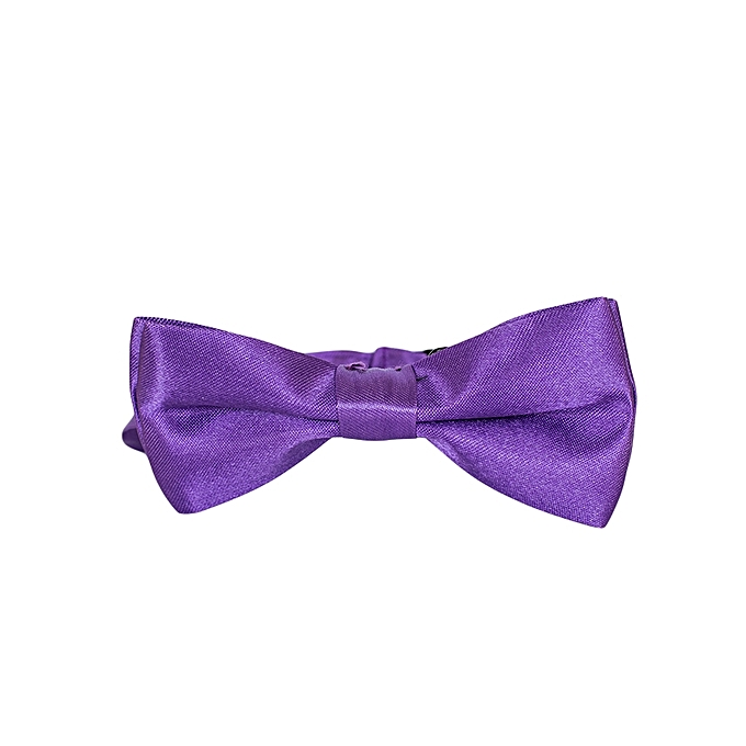 Generic Purple Satin Boys Bowtie