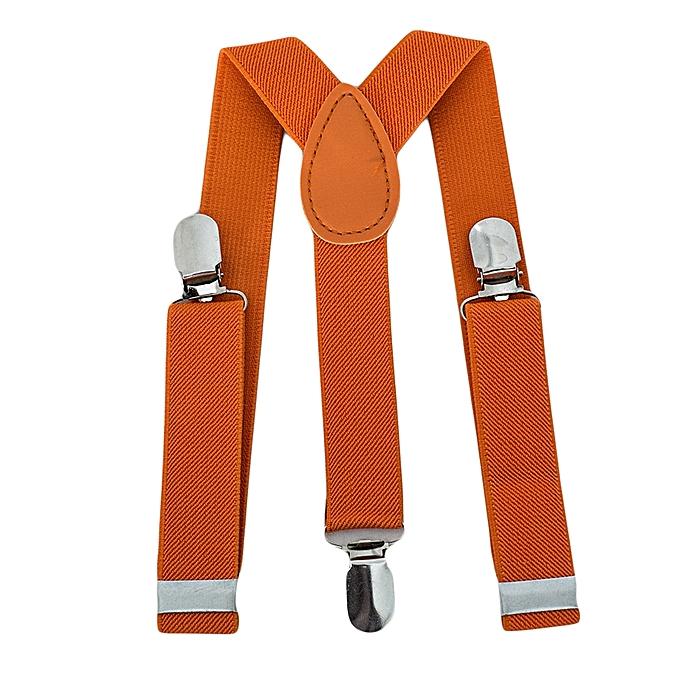 Generic Orange Torrid Boys Adjustable Suspender With Silver Clip