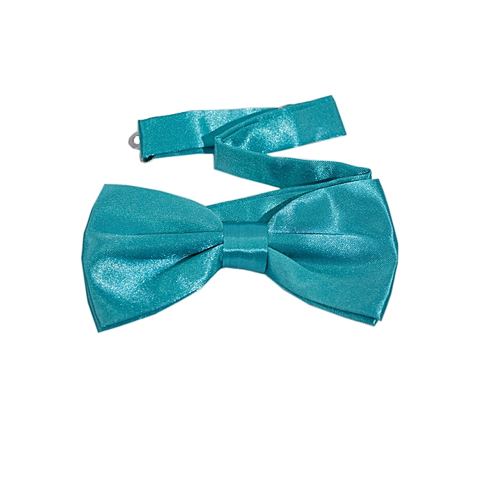 Generic Blue Vividi Satin Boys Bow tie