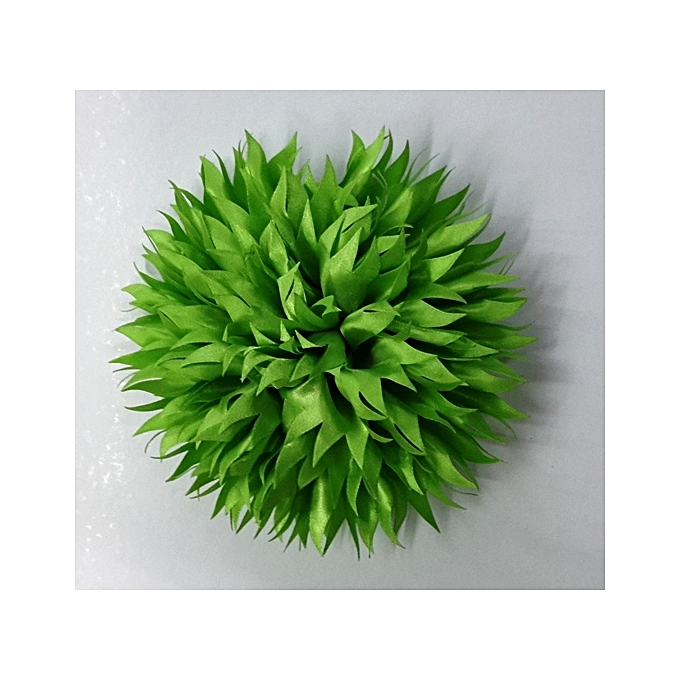 Generic Green Apple Satin Fabric Flower Hair/Dress Clip