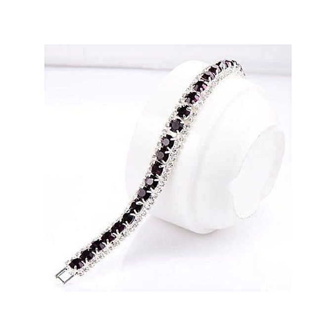Generic Maroon Burgundy Crystal Rhinestone Bracelet