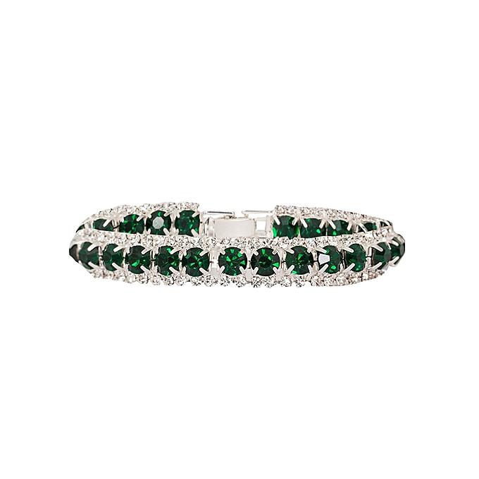 Generic Green Hunter Crystal Rhinestone Bracelet