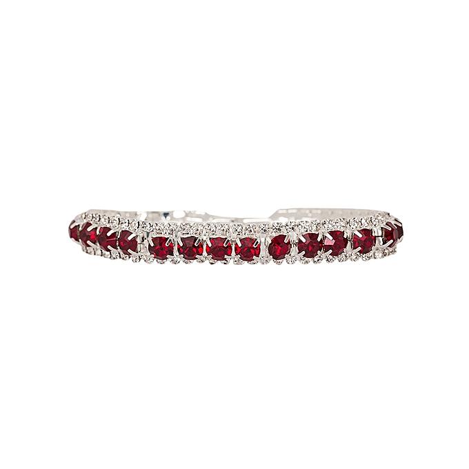 Generic Red Scarlet Crystal Rhinestone Bracelet