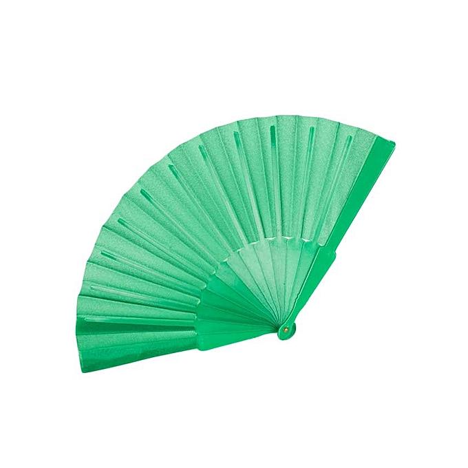 Generic Fern Green Folding Silk Hand Fan