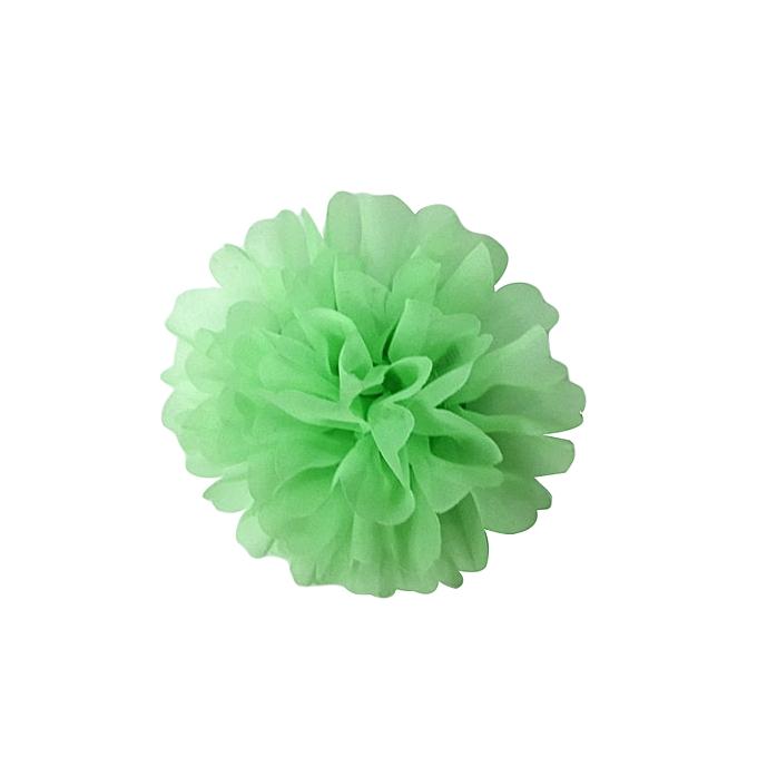 Generic Green Mint Chiffon Fabric Flower Hair/Dress Clip