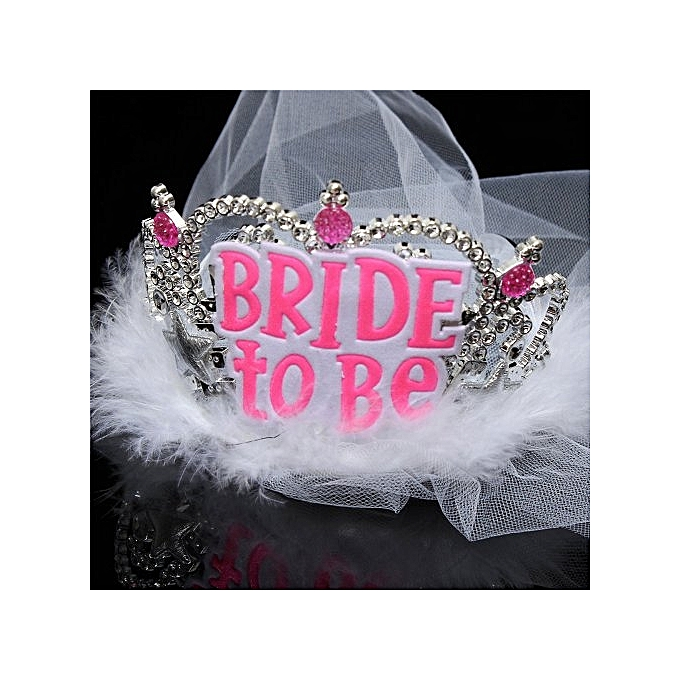 Generic Shower Wedding Veil Crown Bride To Be Bachelorette Hen Event Party