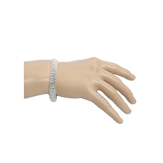 Generic Classic Crystal Bridal Rhinestone 4 Line Bracelet