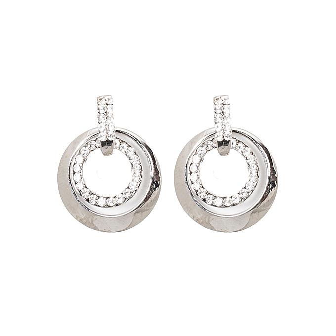 Generic Silver Rhinestone Earrings