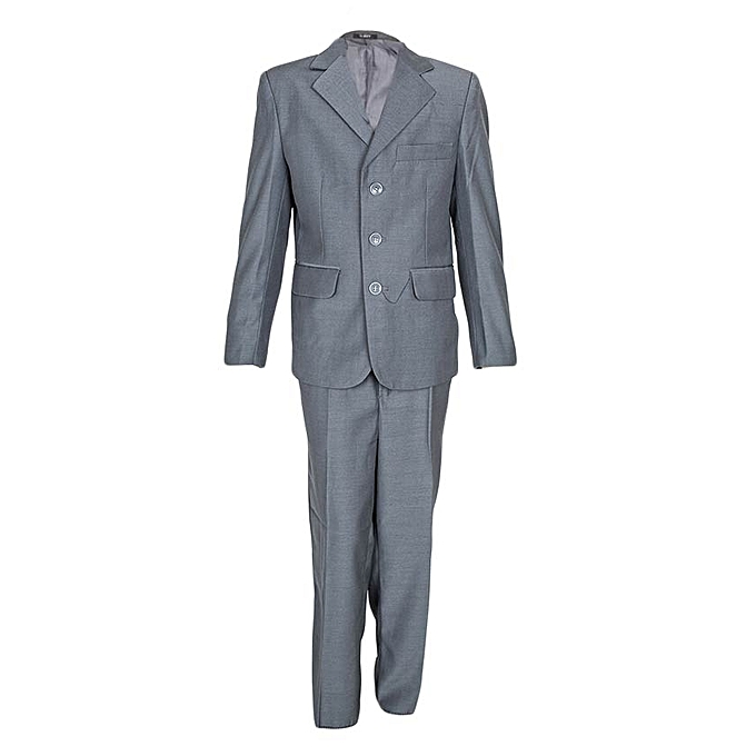 Generic Grey Classic/Wedding/Special Ocasssion Boys' Suits