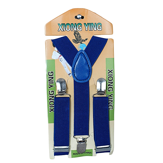 Generic Blue Ink Kids Boy Girls Toddler Clip-on Suspenders Elastic Adjustable Braces HOT