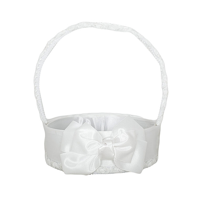 Generic White Flower Girls Basket