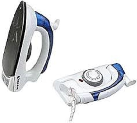 Easily Portable & Foldable Steam Iron Box White And Blue
