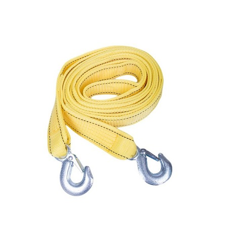 Generic 5 Tons 6 Meters Universal Car Trailer Towing Rope Strap Flsorescent Tow Cable with Hooks