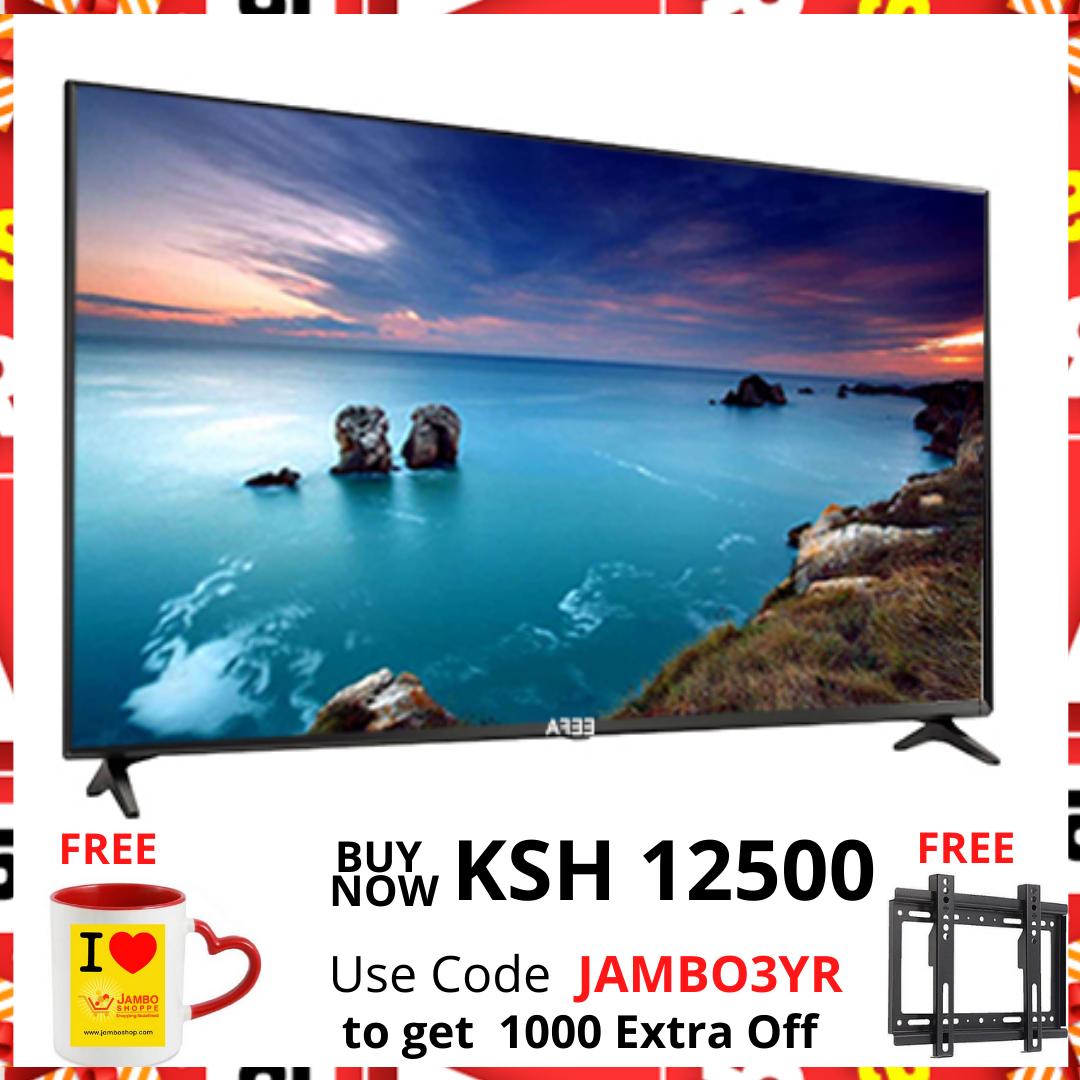 EEFA 32 Inch Frameless HD LED Digital TV - Black