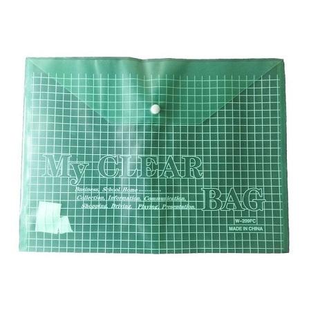 Essentials A4 Clear Bag/FC209 (GREEN)